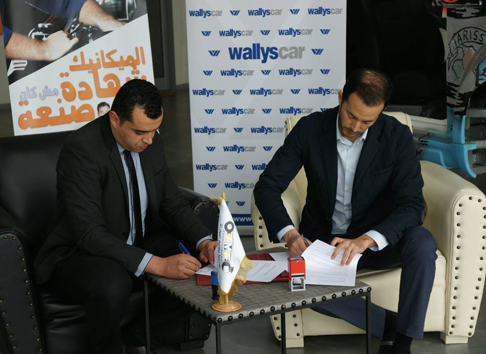 Signature de convention de partenariat avec WALLYS CARS